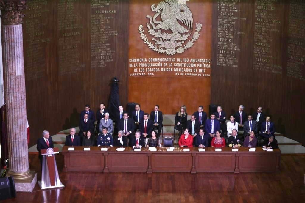 5e3b70ec943c5551560865 - Ciudad de México.- Claudia Sheinbaum asistió a ceremonia por el 103 aniversario de la Promulgación de la Constitución Política de los Estados Unidos Mexicanos