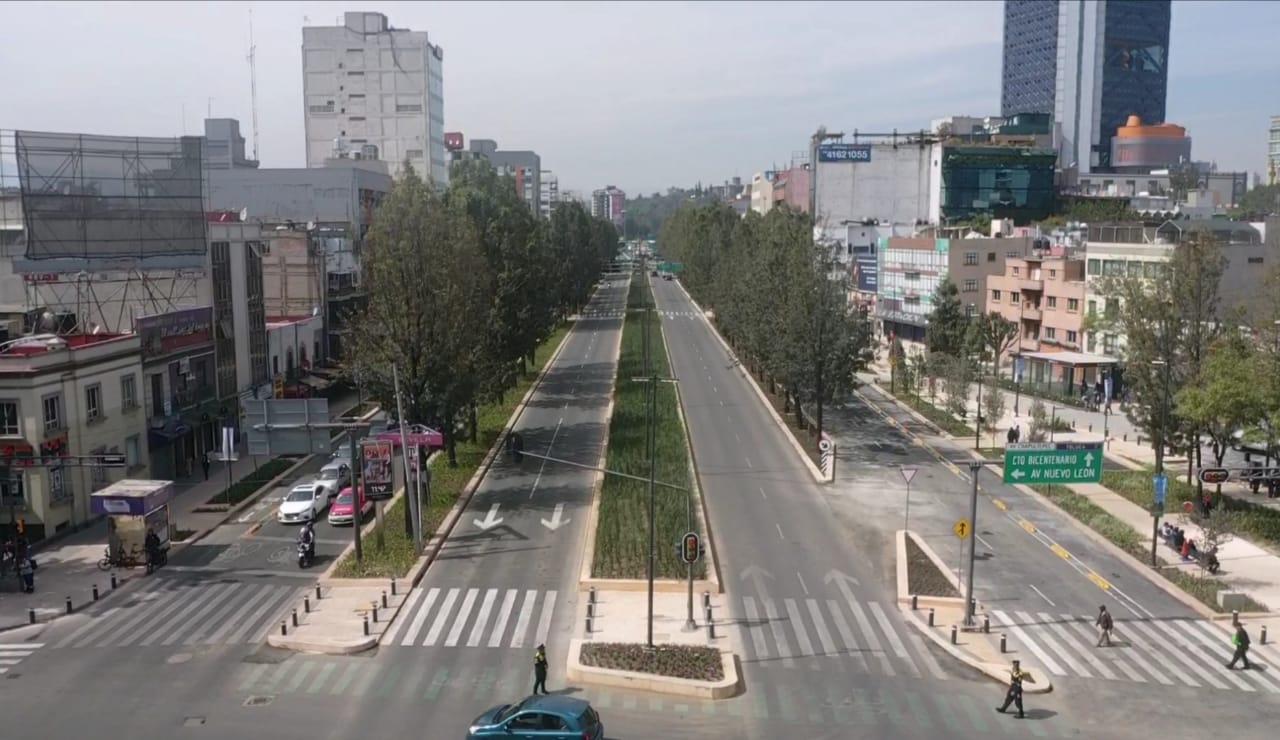 5e3f905c489d3413708540 - Gobierno de la Ciudad de México finaliza  rehabilitación y reforestación de Avenida Chapultepec